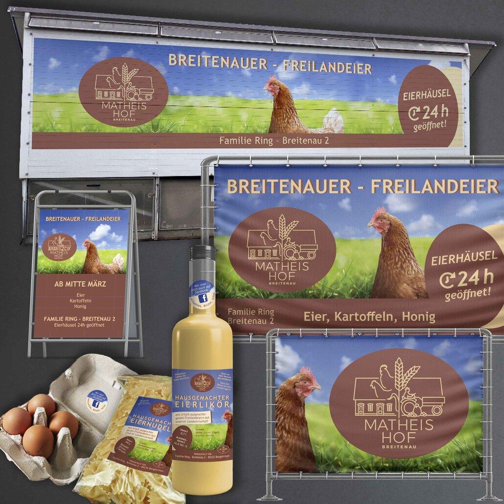 printandgraphic - Werbeagentur - Matheis Hof, Werbebanner, Etiketten/Aufkleber